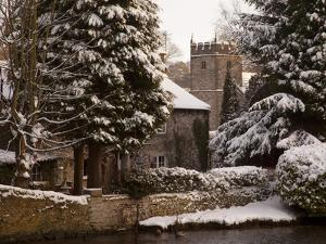Cottage and Church, Ashford in the Water, Derbyshire, England, United Kingdom, Europe by Frank Fell