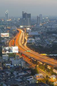 Elevated view of city skyline, Bangkok, Thailand, Southeast Asia, Asia by Frank Fell