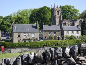 Hartington Village and Church, Peak District, Derbyshire, England, United Kingdom, Europe by Frank Fell