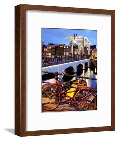 Magere Brug (Skinny Bridge) at Dusk, Amsterdam, Holland, Europe