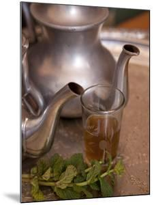 Making Mint Tea at Mohamed Attai Village in the Atlas Mountains, Morocco, North Africa, Africa by Frank Fell