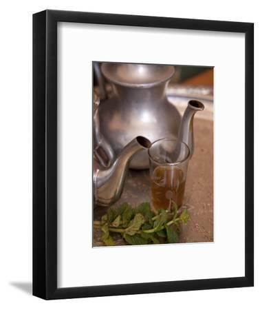 Making Mint Tea at Mohamed Attai Village in the Atlas Mountains, Morocco, North Africa, Africa