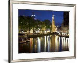 Munttoren and Canal at Dusk, Amsterdam, Holland, Europe by Frank Fell