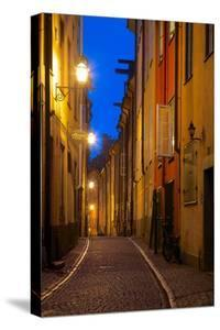Narrow Street at Dusk, Gamla Stan, Stockholm, Sweden, Scandinavia, Europe by Frank Fell