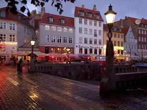 Nyhavn at Dusk, Copenhagen, Denmark, Scandinavia, Europe by Frank Fell