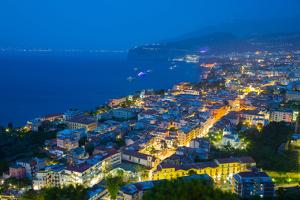 Panoramic View of Sorrento at Night, Sorrento, Amalfi Coast, UNESCO World Heritage Site, Campania by Frank Fell