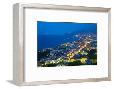 Panoramic View of Sorrento at Night, Sorrento, Amalfi Coast, UNESCO World Heritage Site, Campania