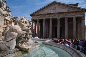 Piazza Della Rotonda and the Pantheon, UNESCO World Heritage Site, Rome, Lazio, Italy, Europe by Frank Fell