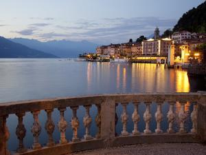 Promenade and Lake at Dusk, Bellagio, Lake Como, Lombardy, Italian Lakes, Italy, Europe by Frank Fell