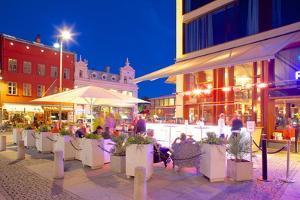Restaurant on Vallgatan at Dusk, Gothenburg, Sweden, Scandinavia, Europe by Frank Fell