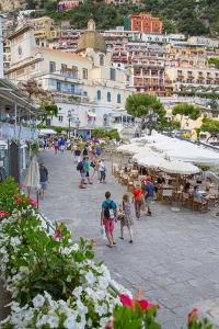 Restaurants on Via Marina Grande, Positano, Province of Salerno by Frank Fell