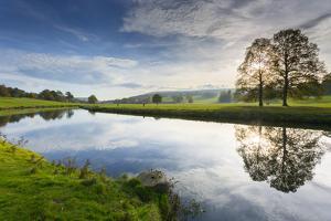 River Derwent in Chatsworth Park, Peak District National Park, Derbyshire, England, United Kingdom, by Frank Fell