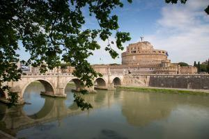 River Tiber and Castel Sant' Angelo, UNESCO World Heritage Site, Rome, Lazio, Italy, Europe by Frank Fell