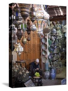 Souk, Marrakesh, Morocco, North Africa, Africa by Frank Fell