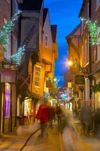 The Shambles at Christmas, York, Yorkshire, England, United Kingdom, Europe by Frank Fell