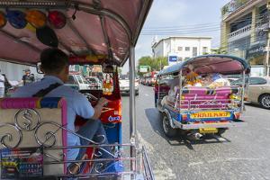 Tuk Tuk ride through Bangkok, Bangkok, Thailand, Southeast Asia, Asia by Frank Fell