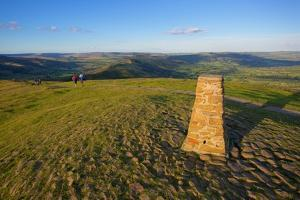 View from Mam Tor Hollins Cross, Derbyshire, England, United Kingdom, Europe by Frank Fell