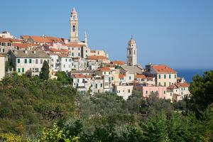 View of Cervo, Imperia, Liguria, Italy, Europe by Frank Fell