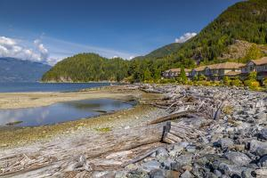 View of How Sound at Furry Creek off The Sea to Sky Highway near Squamish, British Columbia, Canada by Frank Fell