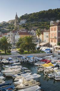 View of Hvar Harbour, Hvar Island, Dalmatia, Croatia, Europe by Frank Fell