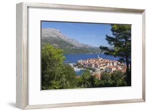 View of Korcula Town, Korcula, Dalmatia, Croatia, Europe by Frank Fell