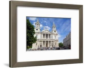 View of St. Paul's Cathedral, London, England, United Kingdom, Europe by Frank Fell