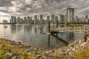 View of Vancouver skyline as viewed from Millbank, Vancouver, British Columbia, Canada, North Ameri by Frank Fell