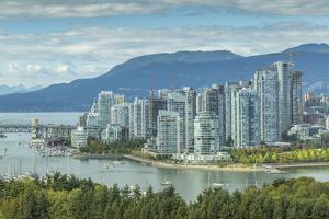 View of Vancouver skyline as viewed from Mount Pleasant District, Vancouver, British Columbia, Cana by Frank Fell