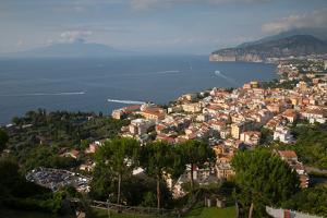View of Vesuvio and Terrheinian Sea from Above Sorrento, Costiera Amalfitana (Amalfi Coast) by Frank Fell