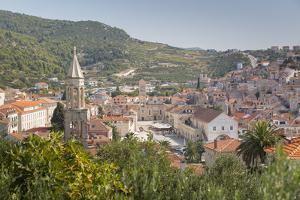 View over Hvar, Hvar Island, Dalmatia, Croatia, Europe by Frank Fell