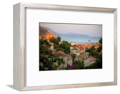 View over Old Town at Sunset, Dubrovnik, Dalmatia, Croatia, Europe
