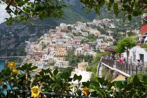 View over Positano and Chiesa Di Santa Maria Assunta, Province of Salerno by Frank Fell
