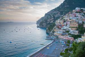 View over Positano, Costiera Amalfitana (Amalfi Coast), UNESCO World Heritage Site by Frank Fell