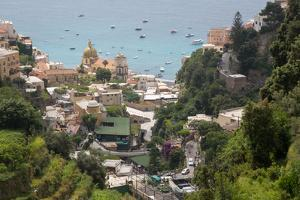 View over Positano, Costiera Amalfitana (Amalfi Coast), UNESCO World Heritage Site by Frank Fell