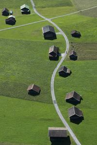 Huts, Haystacks, Mountain Pasture, Path, Nature by Frank Fleischmann
