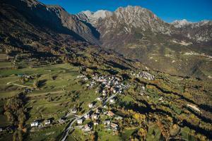 Monte Dolada, Belluno, Alps, Autumn, Aerial Shots, Italy by Frank Fleischmann