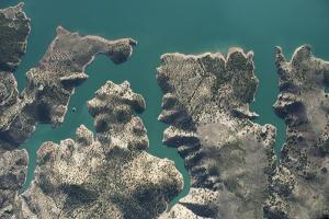 Natural Form, Landscape, Aerial View, Zahara, Lake, Shore, Fjord, Andalusia, Summer, Vacation by Frank Fleischmann