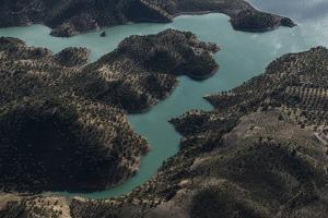Nature, Andalusia, Lake Zahara, Zahara, Lakeside by Frank Fleischmann