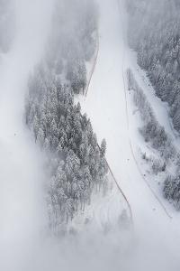 Osterfelder, Kandahar Ski Slope, Winter, Morning Fog, Snow by Frank Fleischmann