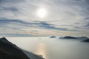 Paraglider, Aviation, Paragliding, Lake Garda, Monte Baldo by Frank Fleischmann