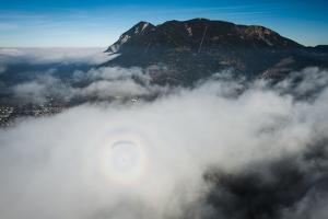 Paragliding About Garmisch-Partenkirchen, Autumn, Aerial Shots, Germany by Frank Fleischmann