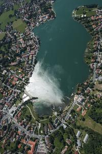 Rottach-Egern, Tegernsee, Lake, Aerial View, Mountain Lake by Frank Fleischmann