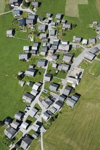 Valais, Goms, Gluringen, Mountain Village, Valais Architecture, Aerial Picture, Switzerland by Frank Fleischmann