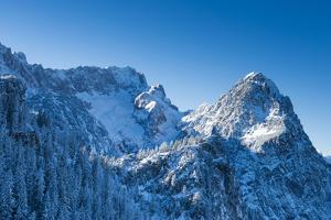 Waxenstein, H?llental, Winter, Mountaineering, Aerial Shot by Frank Fleischmann