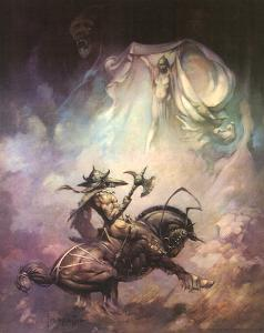 Apparition (cover art for Brak the Barbarian vs. the Sorceress) by Frank Frazetta