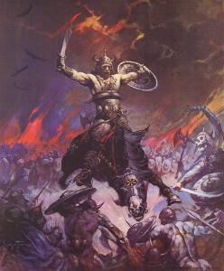 Berserker (cover art for Conan the Conqueror) by Frank Frazetta