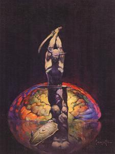 Brain (cover art for Eerie #8 and Eerie #84) by Frank Frazetta