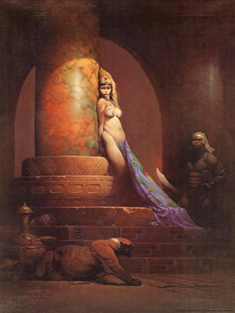 Egyptian Princess (cover art for Eerie #23 and Creepy #92) by Frank Frazetta
