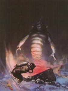 Sea Monster (cover art for Eerie #3 and Creepy #97) by Frank Frazetta