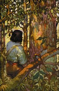 Robinson Crusoe: I Jumped Up and Went Out Through My Little Grove by Frank Goodwin